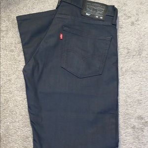 511 LEVIS JEANS 33 X 30 DARK CHARCOAL WORN ONCE!